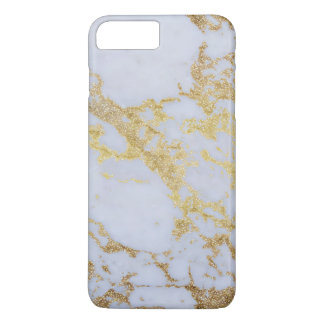 Awesome trendy modern faux gold glitter marble iPhone 7 plus case