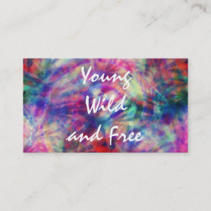 Tie dye business cards templates zazzle awesome trendy tribal tie dye young wild and free business card colourmoves