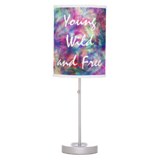 Awesome trendy tribal tie dye young wild and free desk lamp