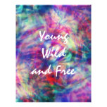 Awesome trendy tribal tie dye young wild and free custom flyer