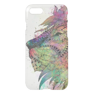 Awesome tribal watercolor lion design iPhone 7 case