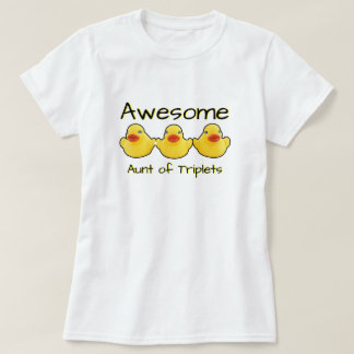 Awesome Triplets Aunt Rubber Ducks T-Shirt