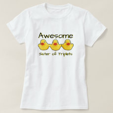 Awesome Triplets Sister Rubber Ducks T-Shirt