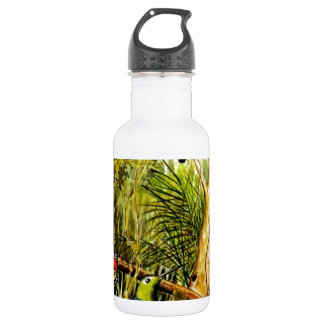 Awesome Tropical Jungle Birds Butterfly Photo Water Bottle