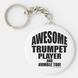 Awesome Trumpet Player Keychain