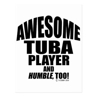 Awesome Tuba Player Postcard