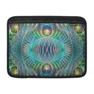 Awesome turquoise Fractal Art MacBook Sleeve