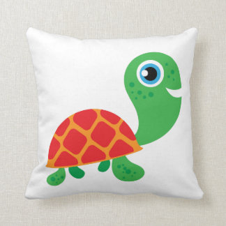 Awesome Turtle Throw Pillow