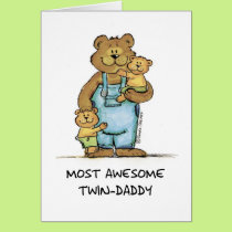 Awesome Twin Daddy Card