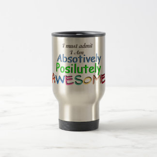 Awesome Typography 15 Oz Stainless Steel Travel Mug