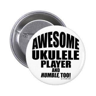 Awesome Ukulele Player Pinback Button