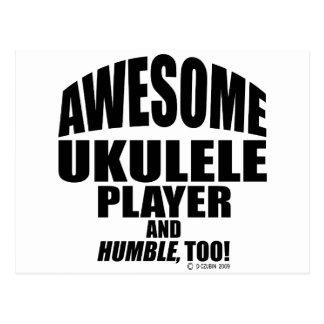 Awesome Ukulele Player Postcard