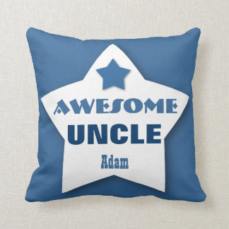 Awesome UNCLE Big Heart Custom BLUE 3 Throw Pillow