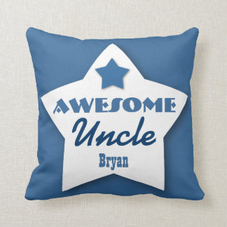 Awesome UNCLE Big Star Custom BLUE 7 Throw Pillow