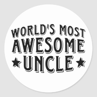 Awesome Uncle Classic Round Sticker