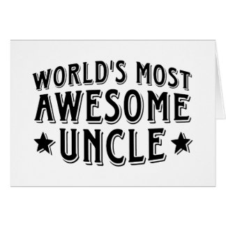 Awesome Uncle Greeting Card