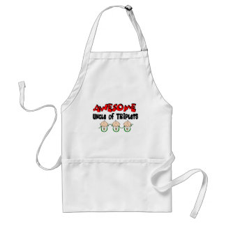 AWESOME UNCLE of TRIPLETS Adult Apron