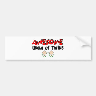 AWESOME UNCLE of TWINS Bumper Sticker