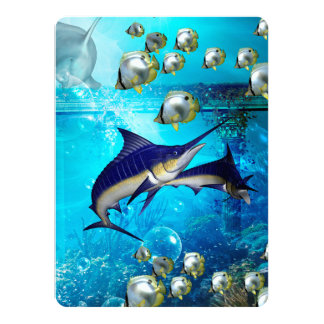 Awesome underwater world card