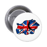 Awesome Union Jack 2 Inch Round Button