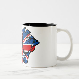 Awesome Union Jack Bulldog Coffee Mugs