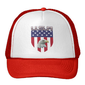 Awesome USA and Eagle on American flag - Hat