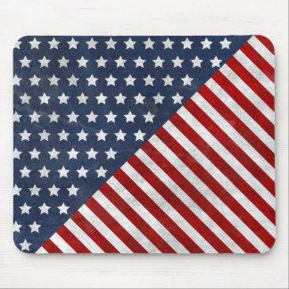 awesome usa flag grunge stars stripes mouse pad