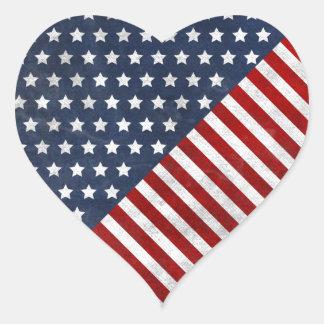 awesome usa flag grunge stars stripes heart sticker