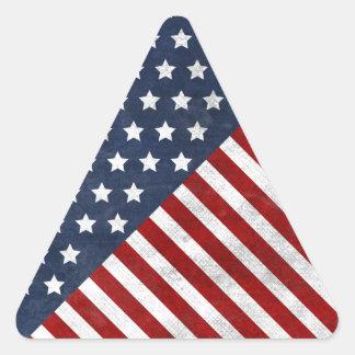 awesome usa flag grunge stars stripes triangle sticker