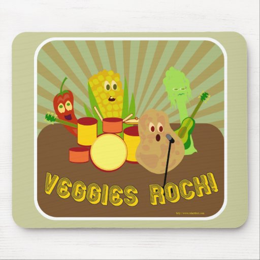 Awesome Veggie Band! Mouse Pad