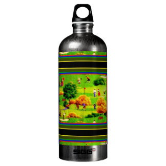 Awesome Victorian Golf Course Pattern Colorful Aluminum Water Bottle