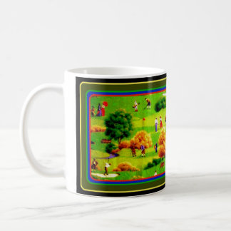 Awesome Victorian Golf Course Pattern Colorful Coffee Mug
