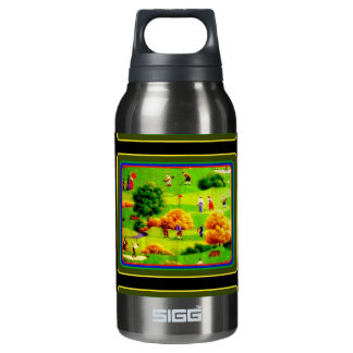 Awesome Victorian Golf Course Pattern Colorful Thermos Bottle