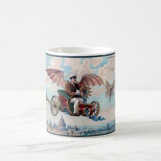 Awesome Victorian Steampunk Flying Car Coffee Mug