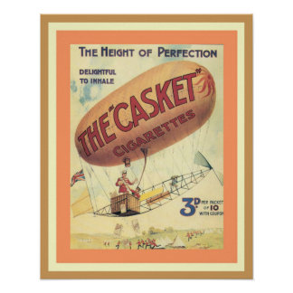 Awesome Vintage Ad Poster: The Casket Cigarettes Poster