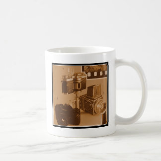 Awesome Vintage Cameras Collage Picture Image Classic White Coffee Mug