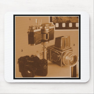 Awesome Vintage Cameras Collage Picture Image Mouse Pad