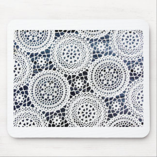Awesome Vintage Crocheted Doily Design Mouse Pad