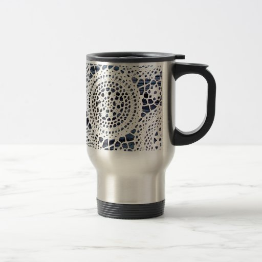 Awesome Vintage Crocheted Doily Design Mug