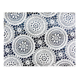 Awesome Vintage Crocheted Doily Design Postcards