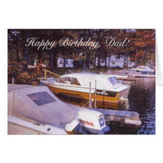 Awesome Vintage Fishing Boats Dads Birthday Card