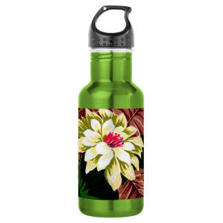 Awesome Vintage Floral Bark Cloth Design Stainless Steel Water Bottle