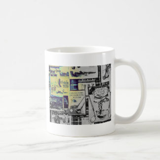 Awesome Vintage Golf Collage Pattern Coffee Mug