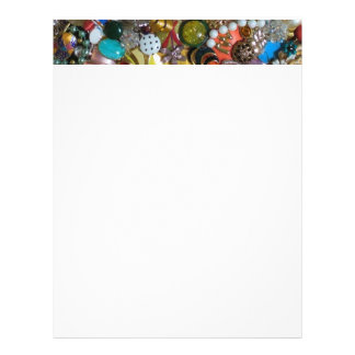 Awesome Vintage Jewelry Collage Photo Design Letterhead