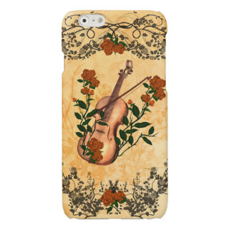 Awesome violin with violin bow glossy iPhone 6 case