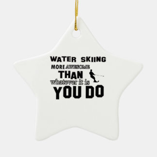 Awesome Water Skiing designs Ceramic Ornament