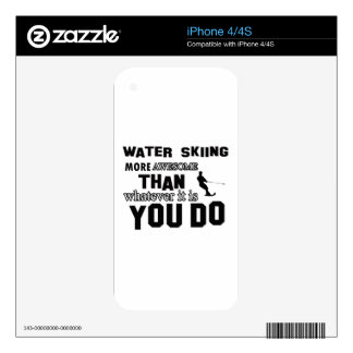 Awesome Water Skiing designs Decals For The iPhone 4