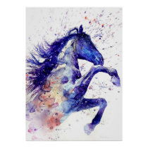 Awesome Watercolor Horse Poster