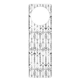 Awesome  watercolor splatters grey tribal arrows door hangers