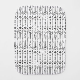 Awesome  watercolor splatters grey tribal arrows baby burp cloth